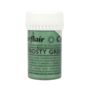 Sugarflair Paste Colour  - концентрирана боя ЗАСКРЕЖЕН ЗЕЛЕН САТЕН  - Frosty Green Satin
