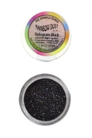 Rainbow Dust - Sparkle Range - ЧЕРНО ХОЛОГРАМ - Black Hologram