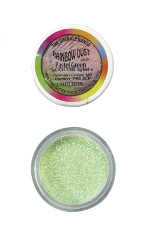 Rainbow Dust - Sparkle Range - ПАСТЕЛНО ЗЕЛЕНО  -  Sparkle Pastel Green