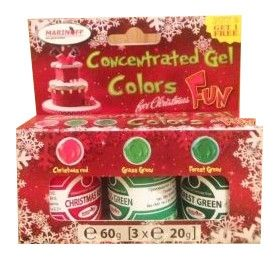 Sly Commerce - Max Concentrate Paste Colour CHRISTMAS - 3x20g