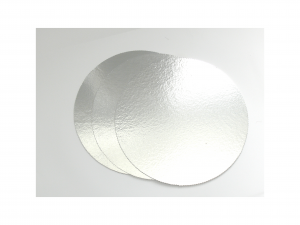 Thin circle cake pad - silver - soft - 2mm thick - ф32