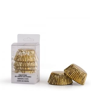 180 GOLD BAKING CUPS 27 X 17 MM