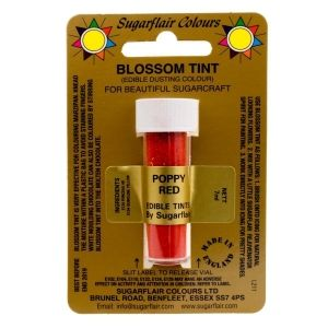 Sugarflair Blossom Tint Dusting Colours - Poppy Red