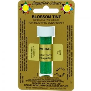 Sugarflair Blossom Tint Dusting Colours - Emerald