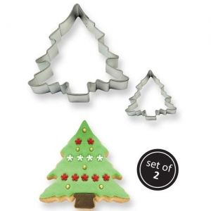 PME COOKIE CUTTER CHRISTMAS TREE SET/2