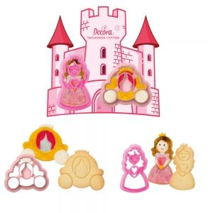 PRINCESS PLASTIC COOKIE CUTTERS SET OF 2