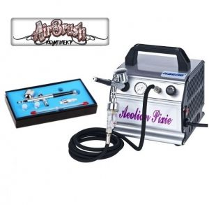 Top Quality SET COMPRESSOR and AIRBRUSH dual action 0.3