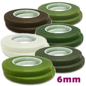 Paper florist tape - different collors - 6mm./27m.
