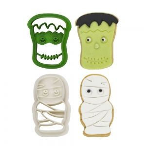 0255092 MONSTERS PLASTIC COOKIE CUTTERS SET OF 2 PCS 4/6 XH 2.2 CM