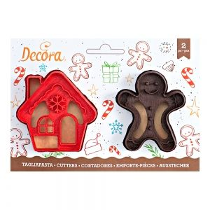 Gingergread MAN & HOUSE COOKIE CUTTER SET OF 2 8/7 XH 2.2 CM
