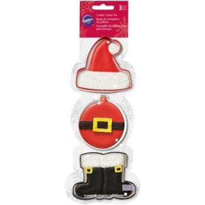 Wilton Cookie Cutter Set Santa Set/3