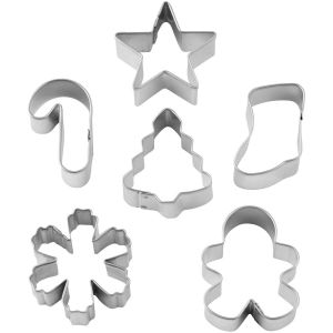 WILTON MINI COOKIE CUTTER SET WREATH MINI SET/6