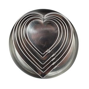 Heart Stainless Steel Cutters - 6 Pieces