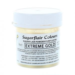 Sugarflair Powder Puff Lustre Refill - Extreme Gold 25g