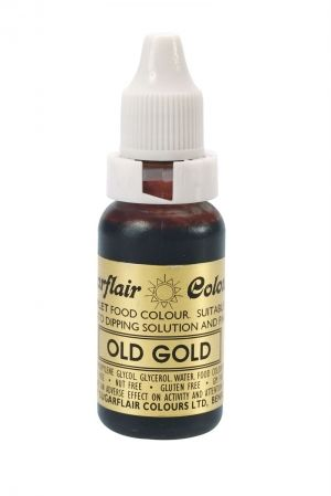 Sugarflair Sugartint Droplet Colour - Old Gold