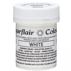 Sugarflair Chocolate Colouring Paint - White